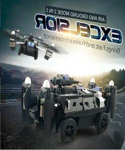 Amphibious 2 IN 1 WIFI FPV RC Drone/Tank Air And Ground with
