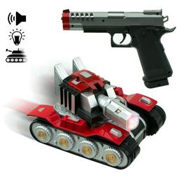 Bump and go RC car Army Tank with Gun Vehicle Perfect Gift f