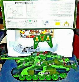 RC T-72 MAIN BATTLE TANK 2.4G W/ CHARGER, TANK BATTERY, & IN