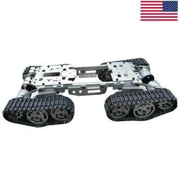 Intelligence RC Tank Car Truck Robot Chassis CNC Alloy Body