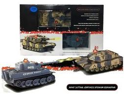 Kids Remote Control R/C Infrared-M1A2 Battle Tank twin pack