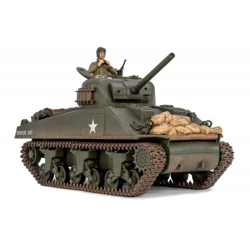 1:24 U.S M4A3 Sherman RC Tank 2.4GHz Infrared RTR Forces of