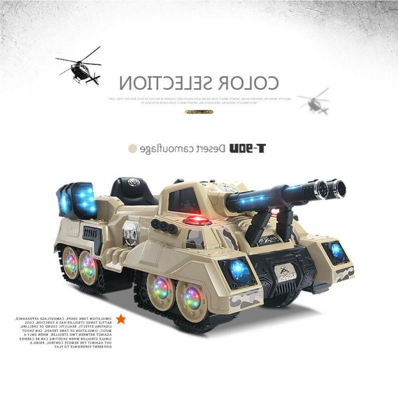 2.4Ghz Truck Manned Dual Kid RC Tank RTR