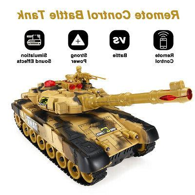21in RC Car Battle Control Military Vehicles Toys Brown