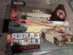 Laser League RC Artillery Vehicle Tan Tank New in Box MSRP $