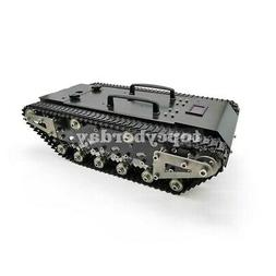 LED Metal RC Tank with Track Shock-Absorbing Car 30KG Load C