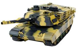 "M1A2 Abrams 1:24 US Battle Tank RC 16"" Air soft /Awesome Sou"