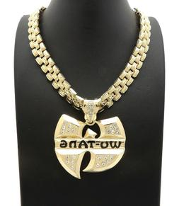"""New Iced Hip Hop Wu Tang Pendant 13mm/24"""" Tank Chain Necklac"""