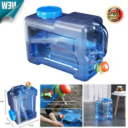 Portable Water Bucket Driving Water Tank Container w/ Faucet