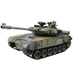 RC Battle Tank Modesl With Sound And Shoot Bullet Recoil Eff