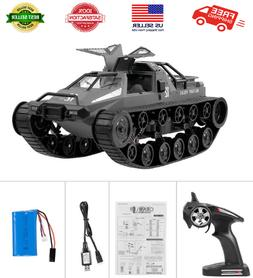 GoolRC RC Tank Car, 1/12 Scale 2.4GHz Remote Control Recharg