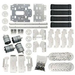 RC Tank Car Truck Robot Chassis 393mmx206mmx84mm Alloy 4 Tra