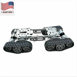 RC Tank Car Truck Robot Chassis CNC Alloy Body 4 Plastic Tra