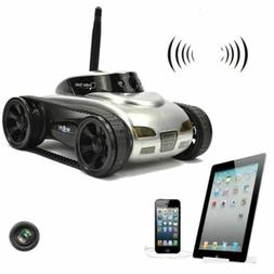 RC Tank Drone w/ Camera Real-time Video Transmission Tank Re