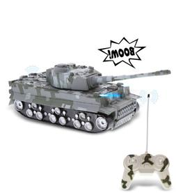 Mozlly Remote Control Tank with Lights & Sound Effects, Army