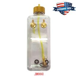 US 500ml  17oz Clear Fuel Tank with Metal Cap for RC Plane G