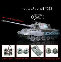 US Stock Henglong 1/16 6.0 Upgraded King Tiger RC Tank 3888A