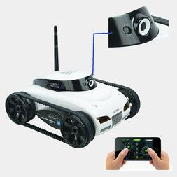 4CH Wifi Instant RC Tank Car controlled by iPhone mobile w/